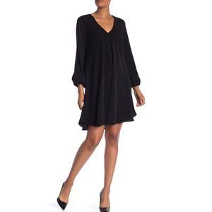 A by Amanda Uprichard Black Dress Flowy Vneck XS S